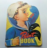 Vtg SAILOR BOY Paint Book Whitman Publishing 1942 Used 18 Pages Colored
