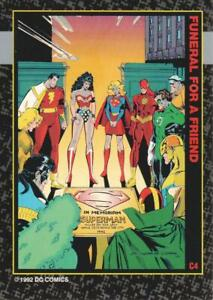 1992 SkyBox Doomsday Death of Superman Funeral for a Friend Trading Card #C4