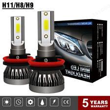 COPPIA LAMPADE AUTO MOTO H11 LED 9000LM 72W 6000K BIANCO FARI LAMPADINE Xenon 2x