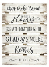 Broke Bread Ate Together Sincere Hearts 17x24 In Pine Wood Skid Wall plaque