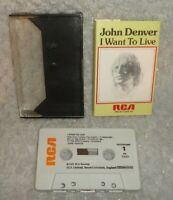 John Denver I Want To Live Music Cassette Tape