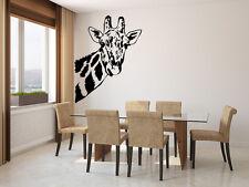 Giraffe Face Wall Sticker Vinyl Decal Wall Art Transfer Living Any Room & Colour