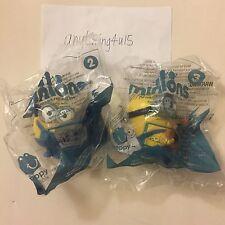 McDonald's 2015 happy meal toys Minions TALKING BOB ,TALKING STUART (#2,3)