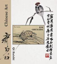 Grenada - 2015 - Qi Baishi Chinese Art - Souvenir Sheet - MNH