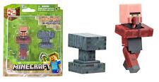 Minecraft popolazione Blacksmith Villager & Accessorio da 3 pollici FIG-NUOVO SCATOLA DANNEGGIATA