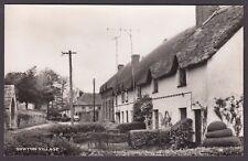 Postcard Sowton Village near Exeter Devon thatched cottages RP by Jerome Dessain