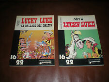 LUCKY LUKE - LOT 2 TOMES EN EO 16 22 : DEFI A LUCKY LUKE + LA BALLADE DES DALTON
