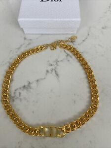 CHRISTIAN DIOR GOLD CHOKER NECKLACE
