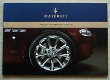 MASERATI Product Information Pricing Brochure 2006 Quattroporte COUPE GranSport