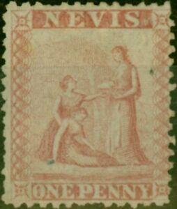 Nevis 1862 1d Dull Lake SG1 Good Unused