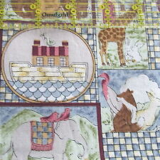 Hi-Fashion cotton fabric baby Quilting Noah collage print hald yard cut 1/2