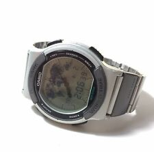 Vintage 1995 CASIO ABX-53 (1326) Data Bank Twincept WR50 40mm case - New Battery