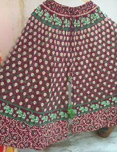 Indian Casual Cotton Trousers Hippie Yoga Pants Festival Plazo Womens Dress