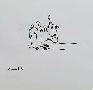 JOSE TRUJILLO - Expressionism Pen Ink Paper 6x6 Expressionist FIGURES MODERN ART