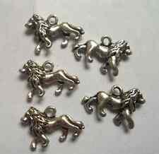 20pcs Tibetan silver lion charm pendant 13.5x21 mm