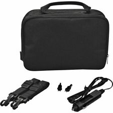10 Inch Gadget Bag with Car Charger - Black - Free 90 Day Guarantee