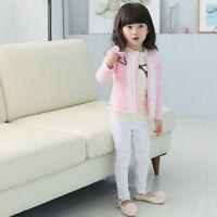 Toddler Baby Girls Kids Lace Cardigan Jacket Coat Long Sleeve Knit Outwear Tops