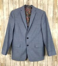 MICHAEL KORS Dinner Jacket Blazer Chambray Blue Sport Coat 16P Womans S Kids *
