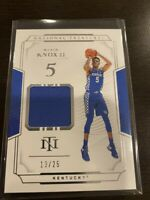 2019 - 2020 National Treasures Collegiate Kevin Knox Jersey RC #13/25
