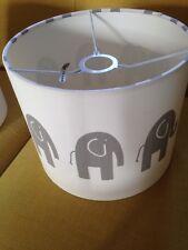 Baby Bedroom Elephant Light Shade Cream And Grey nursery