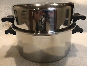 Saladmaster 6qt Roaster Dome Lid Dutch Oven Stock Pot 18-8 Stainless Steel NICE!