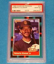 1988 DONRUSS THE ROOKIES #35 ROBERTO ALOMAR ROOKIE HOF PSA 10 GEM MINT *