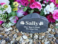 Cat Memorial - Garden Rock (Stone Effect) Personalised - Weatherproof - Medium