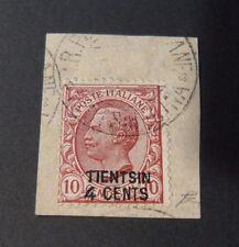 """ITALIA, ITALY,1917 LEVANTE ,CINA """" TIENTSIN"""" Fr.d'Italia SVR 4 su 10c US. cert."""