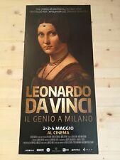 LEONARDO DA VINCI MILANO Locandina Cinema 33x70 Poster Movie Exhibition Original