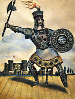 """perfect 24x36 oil painting handpainted on canvas""""warrior""""@N5745"""