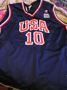 NOS Team USA OLYMPICS Champion Dream Team Basketball JERSEY #10 REGGIE MILLER LG