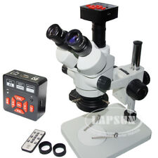 16MP 60FPS HDMI USB Digital Camera + Simul-focal Trinocular Stereo Microscope US