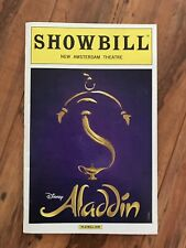 ALADDIN THE MUSICAL SHOWBILL PLAYBILL NYC CAST NEW AMSTERDAM THEATRE april 2016