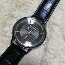 Seiko Date Leather Mens Watch Authentic Working
