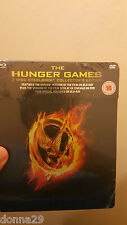 THE HUNGER GAMES HMV UK 3-Disc Blu-Ray Limited Edition Exclusive Steelbook NEW+