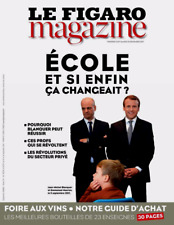 LE FIGARO MAGAZINE 16/9/2017*MACRON & ECOLE*GUIDE VINS TOP BOUTEILLE 23enseignes