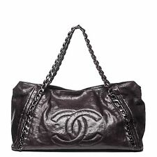 CHANEL MODERN CHAIN TOTE BROWN CAVIAR LEATHER SHOPPERS WOMENS BAG