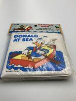 Vintage Bathtime Bath Tub Book Walt Disney Productions Donald at Sea 1984 New