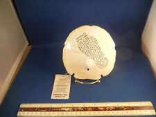 "New Footprints In The Sand Saying Sand Dollar ""How Great Thou Art"" Music Box"