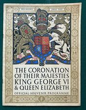 Antique Royal British Coronation Souvenir King George VI Queen Elizabeth 1937
