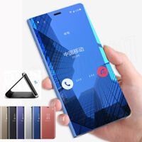 Mirror Clear View Smart Flip Case Cover For Samsung S8/S9 Plus Note 8 S7 S6 Edge