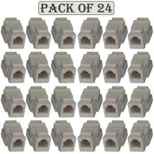 24x Cat3 RJ11/12 Keystone Jack Telephone/Phone Line Tool Less Insert 6P6C White