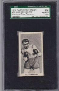 MAX SCHMELING 1938 CARTLEDGE RAZOR #29 SGC 92 NM/MT+ 8.5