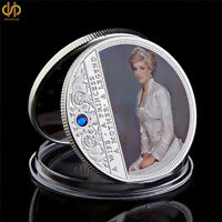 UK Diana Princess Rose With Diamond Last Rose Commemorative Coin Collectible