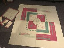Hotel Last Frontier Casino Vintage Table Cloth Napkin Set Las Vegas Nevada 1942