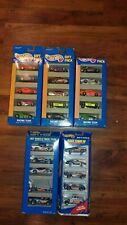 HOT WHEELS Race Team Lot of 5 Gift Packs #1631,13506, 18836 1991/94/95/97 New