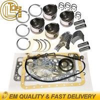 Pistons with Rings&Bearings&Gasekt Kit For Yanmar 4TNC88 4TNC88L-RB Engine B50