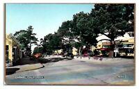 RPPC Street Scene, Carmel, CA Hand-Colored Real Photo Postcard *5Q21