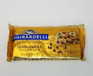 New Ghirardelli Semi Sweet Chocolate Baking Chips Pack Of 12 Bags Free Shipping