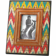 Ikat Style Chevron Weathered Look Photo Frame 4x6